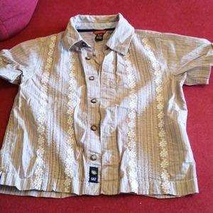 Embroidered boys shirt